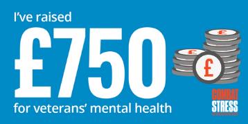 Social Badge - I've raised £750